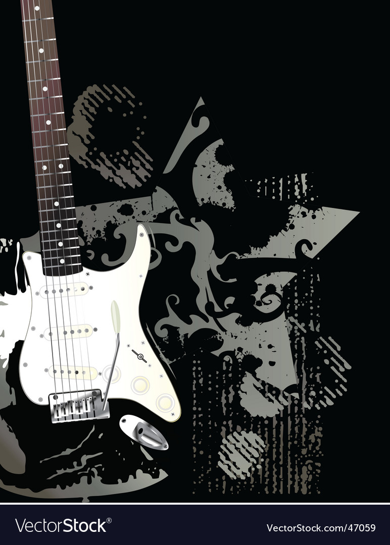 Rock and roll guitar vector image