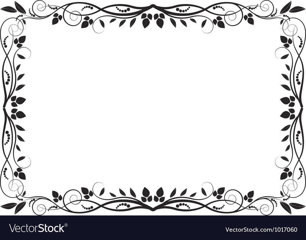 Bordure Decorative De Dessin
