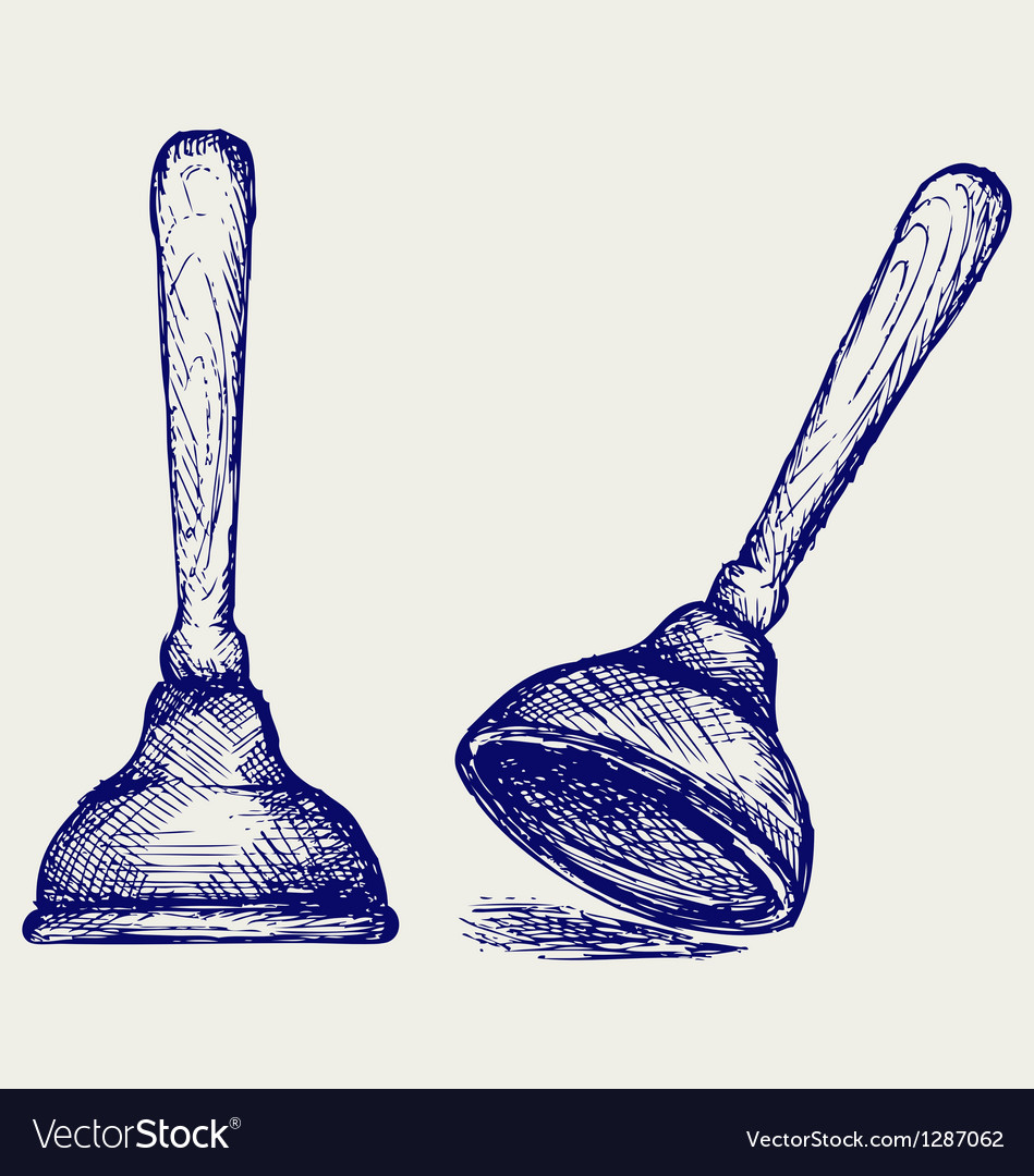 Toilet plunger vector image