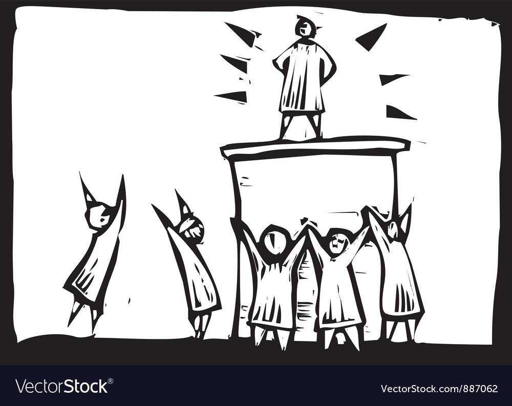 Hero Worship Vector Image by xochicalco - Image #887062 - VectorStock