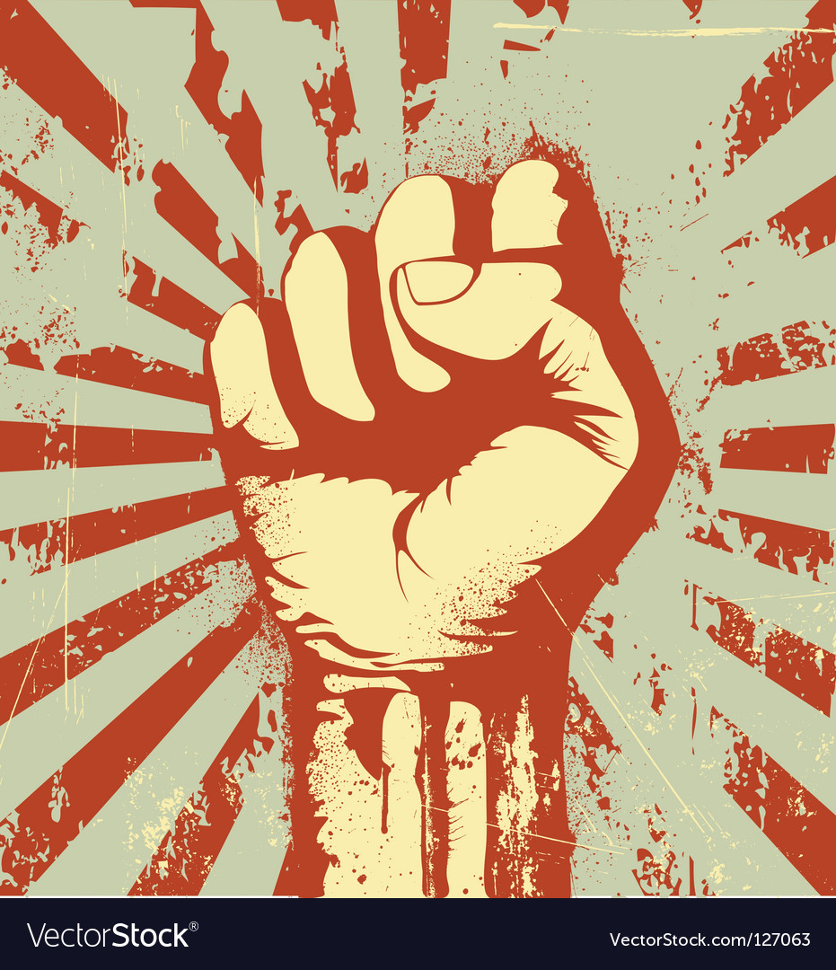 Clenched fist vector image