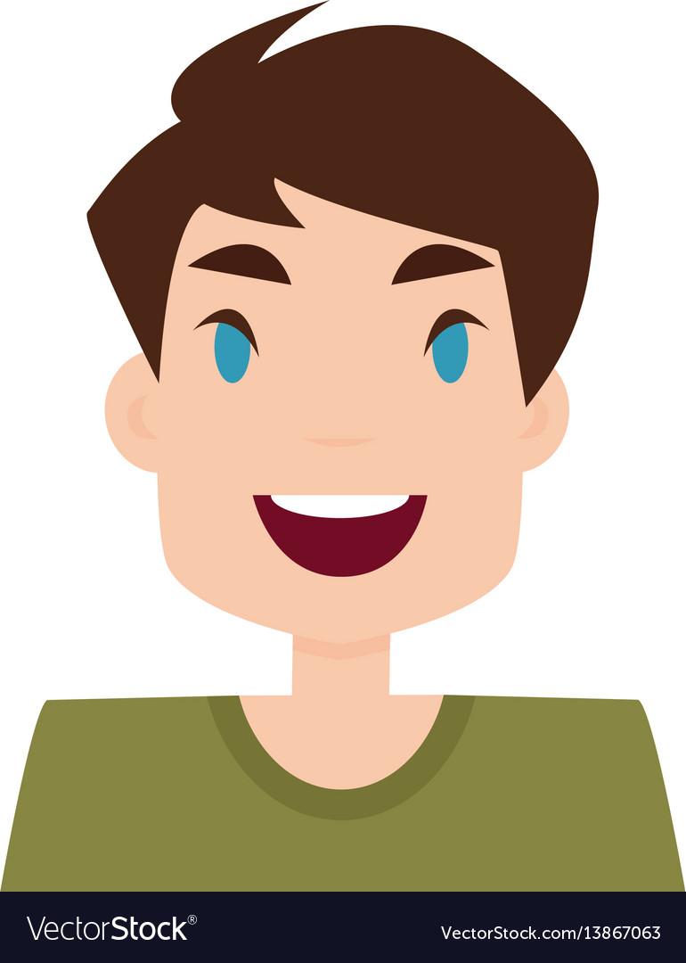 Boy expression face vector image