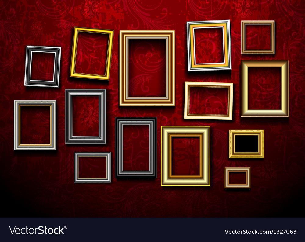 Photo picture frames vintage vector image