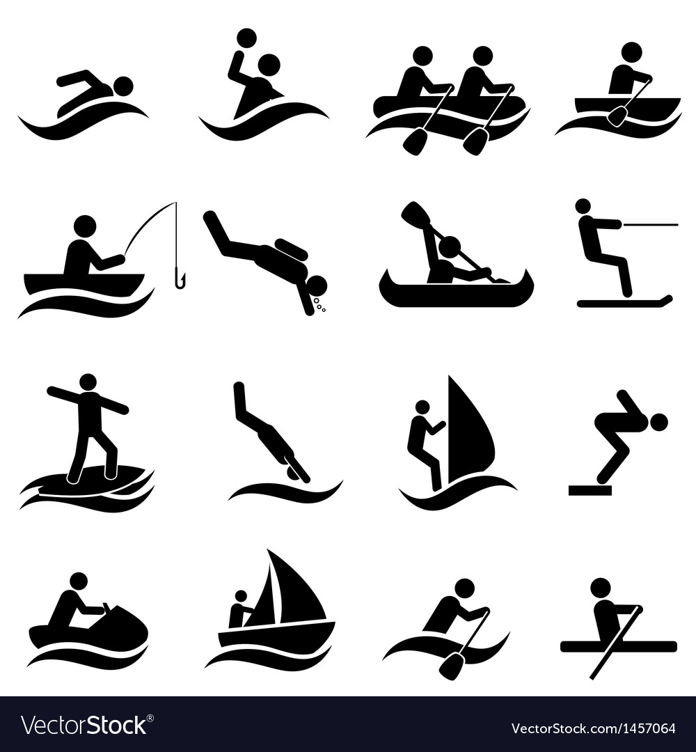 Fitness and leisure icons vector image