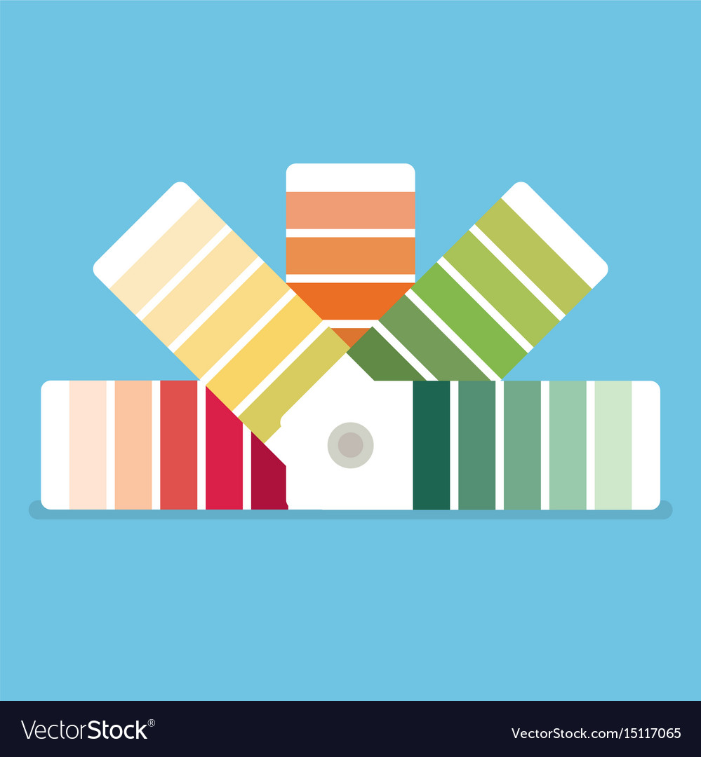 Color swatches book color palette guide color vector image