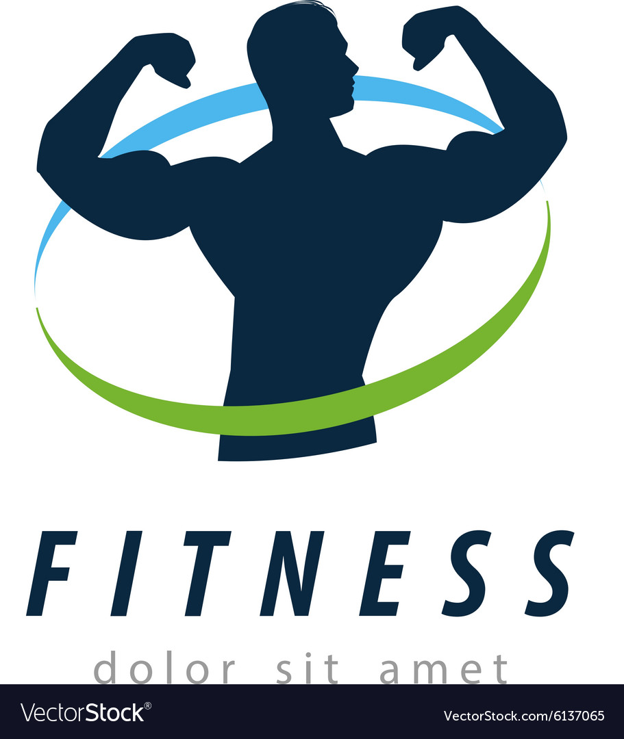Fitness logo design template health or gym vector image for Free gym layout design