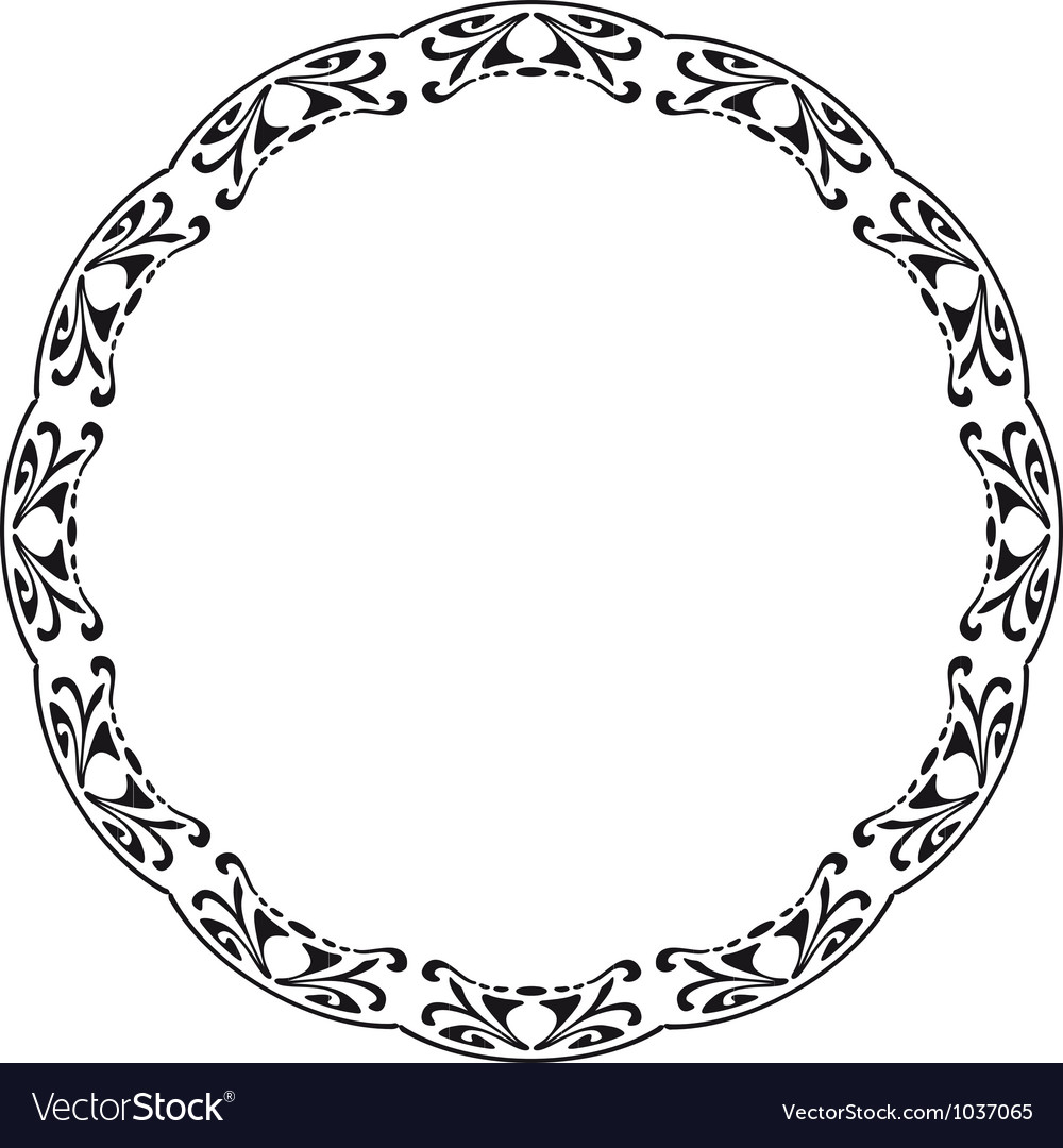 Rounded frame in the style of Art Nouveau vector image