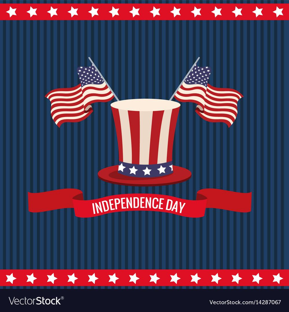Independence day usa national celebration vector image