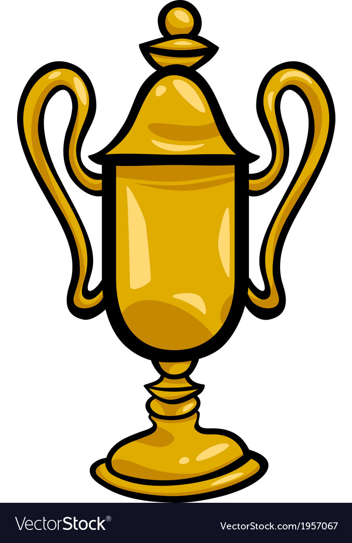 Winner cup clip art cartoon vector image