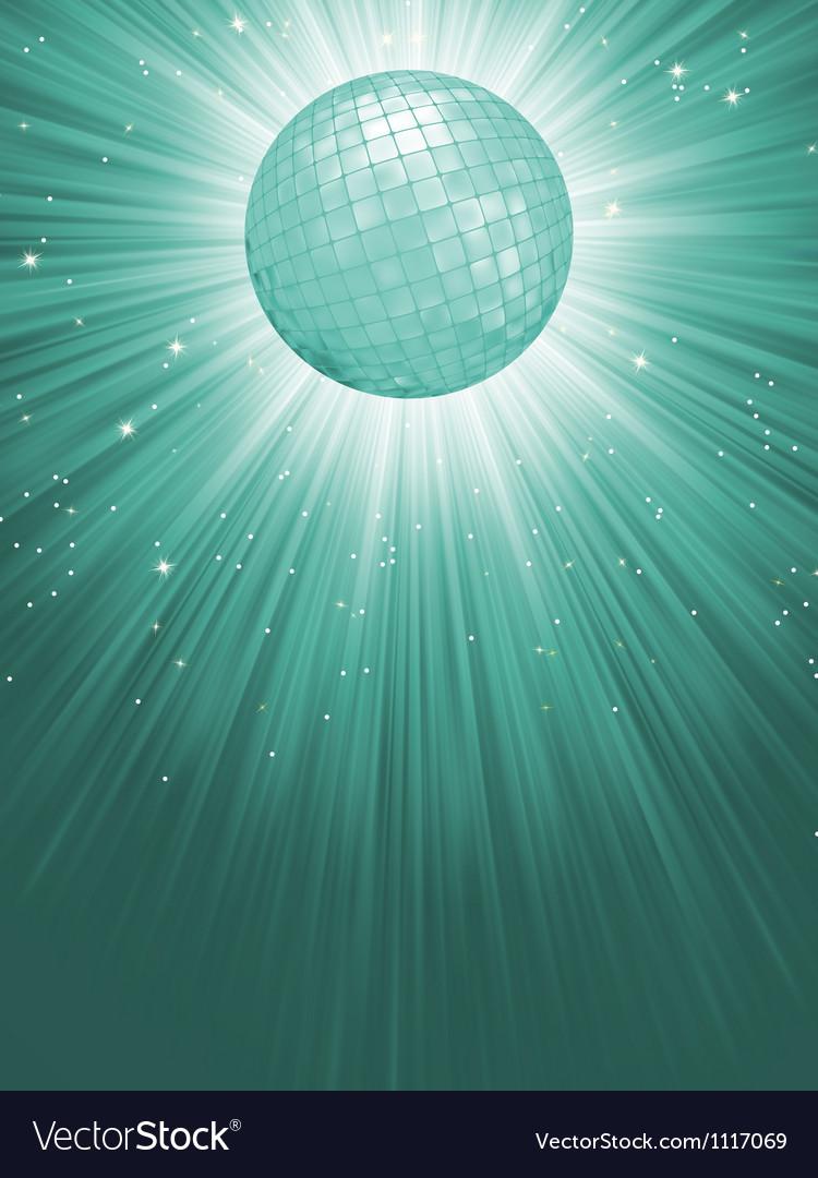 Beidge disco rays with stars EPS 8 vector image