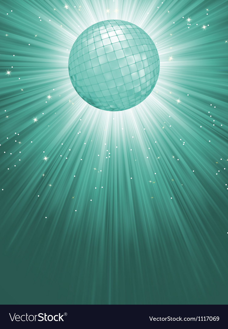 Beidge disco rays with stars EPS 8 vector image