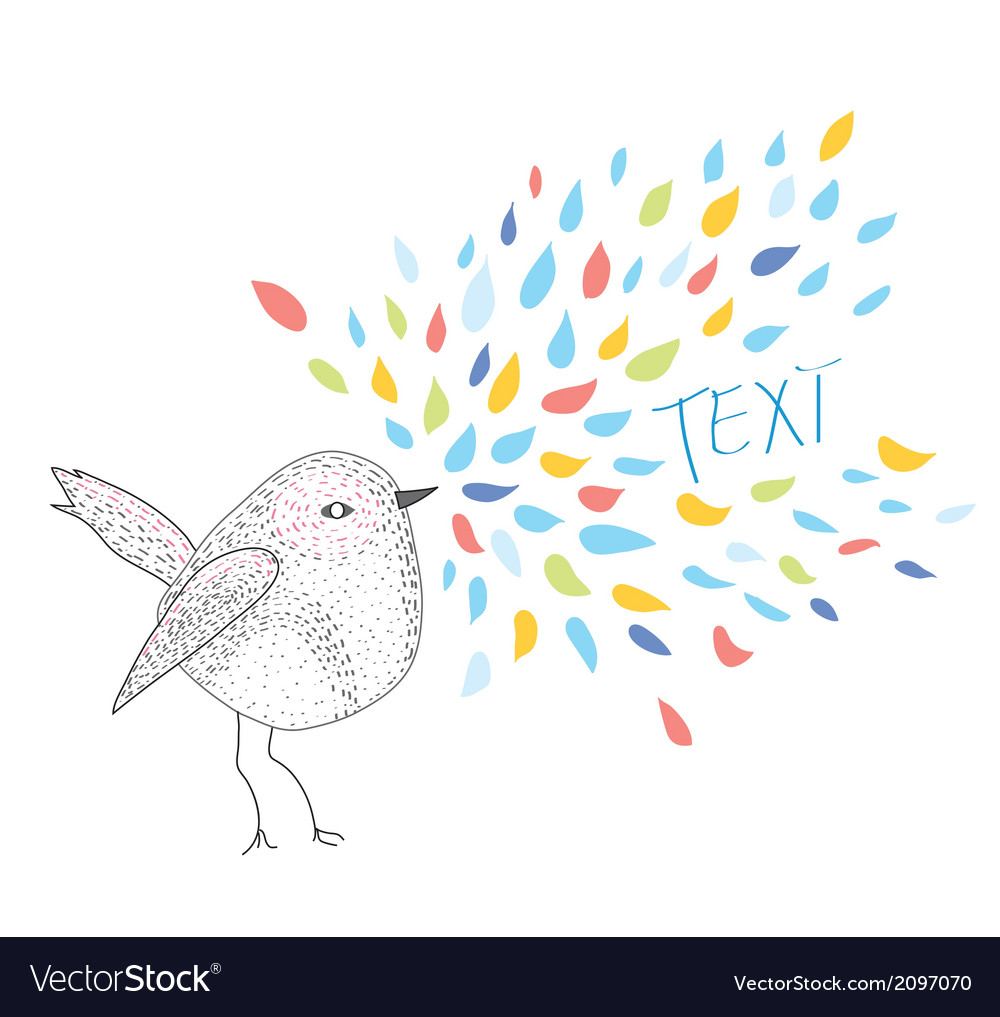 Bird card with frame for the text vector image