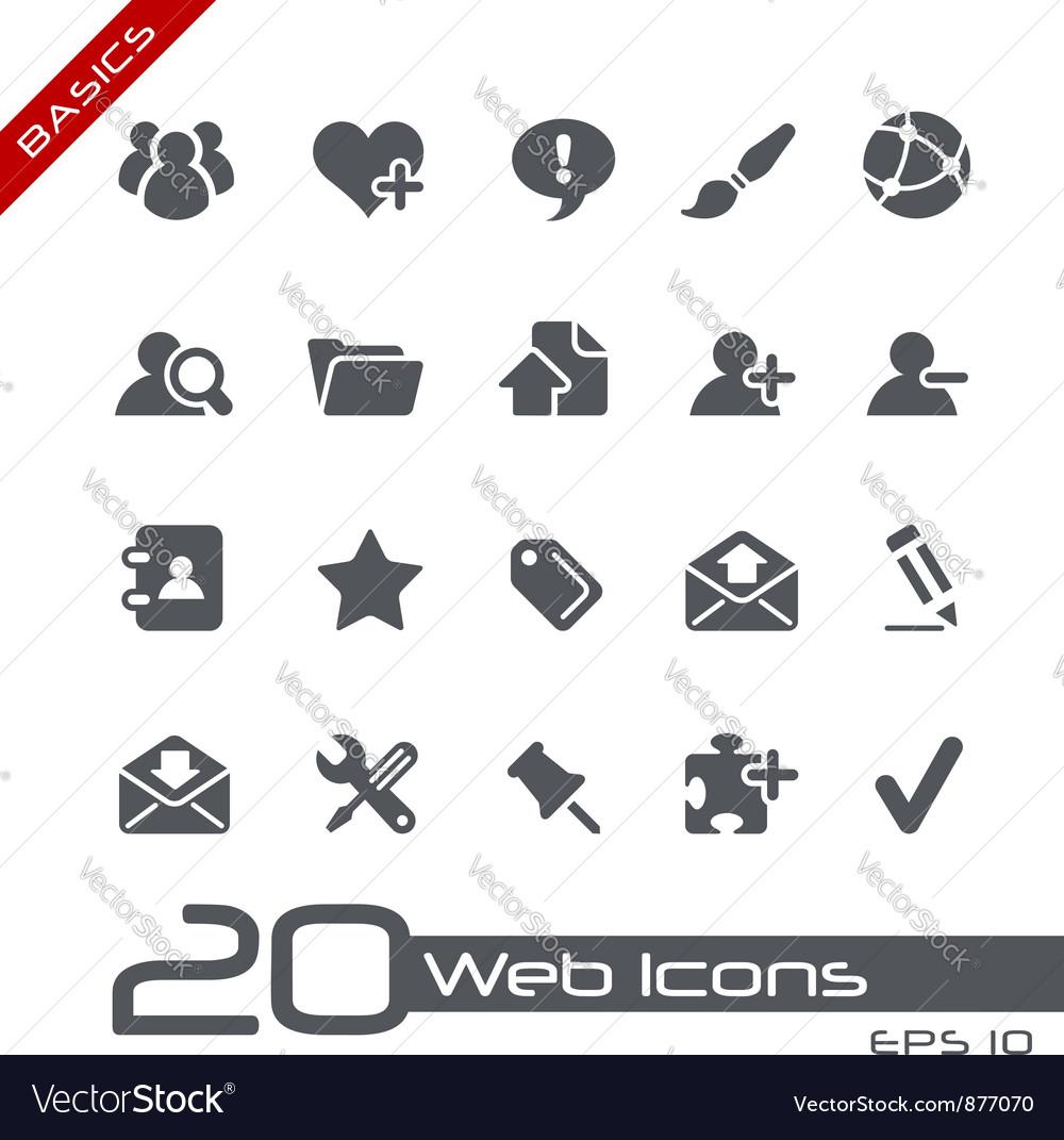 Blog Internet Basics Series vector image