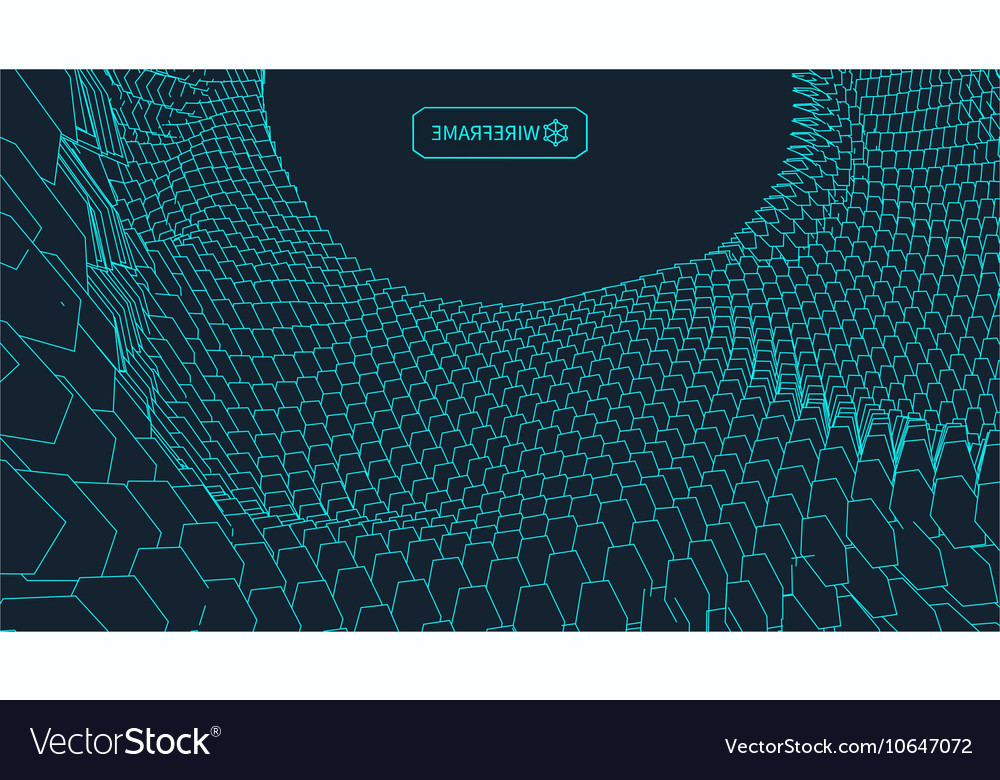 Abstract landscape background Cyberspace vector image