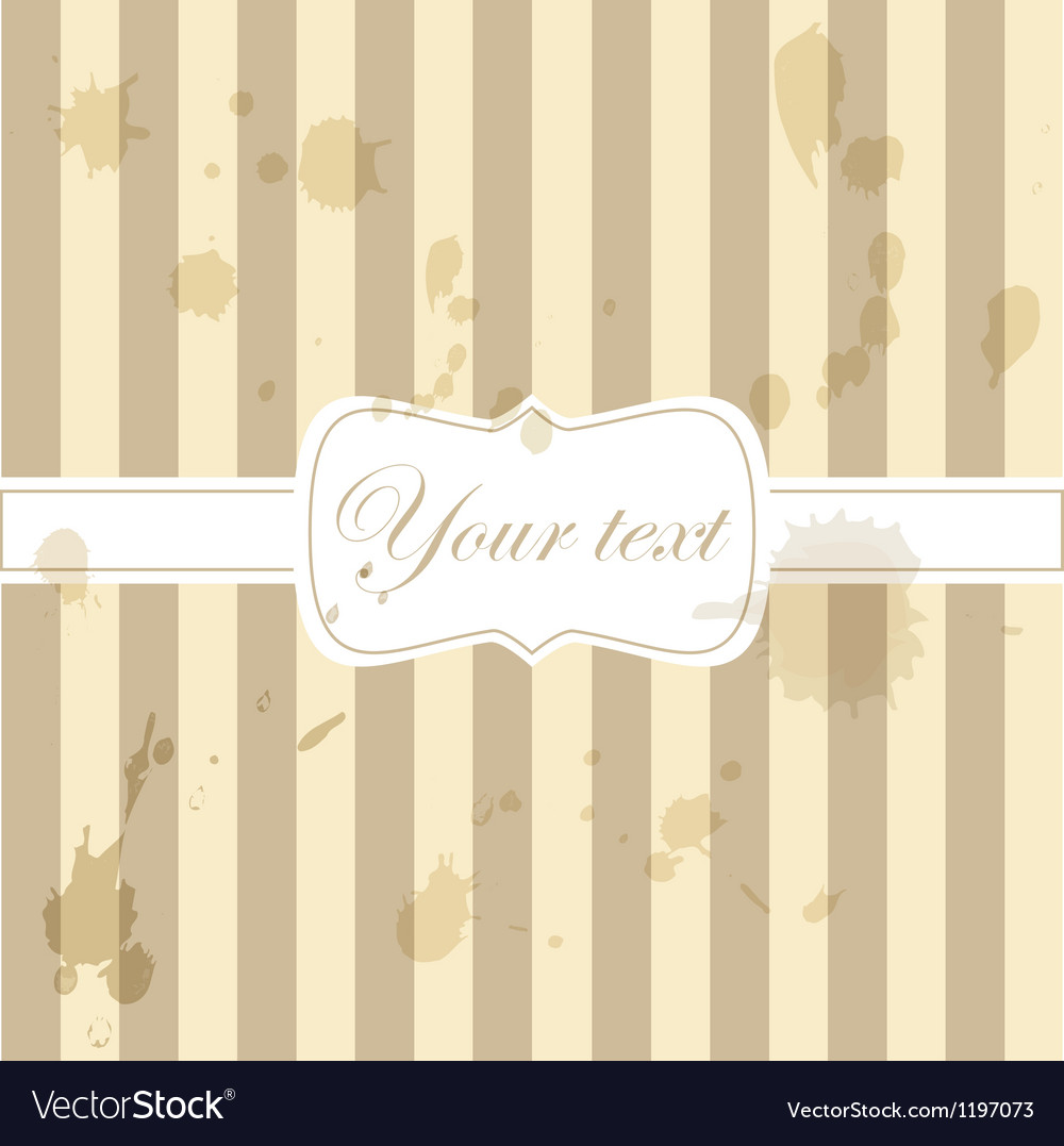 Cute aged retro vintage card invitation vector image