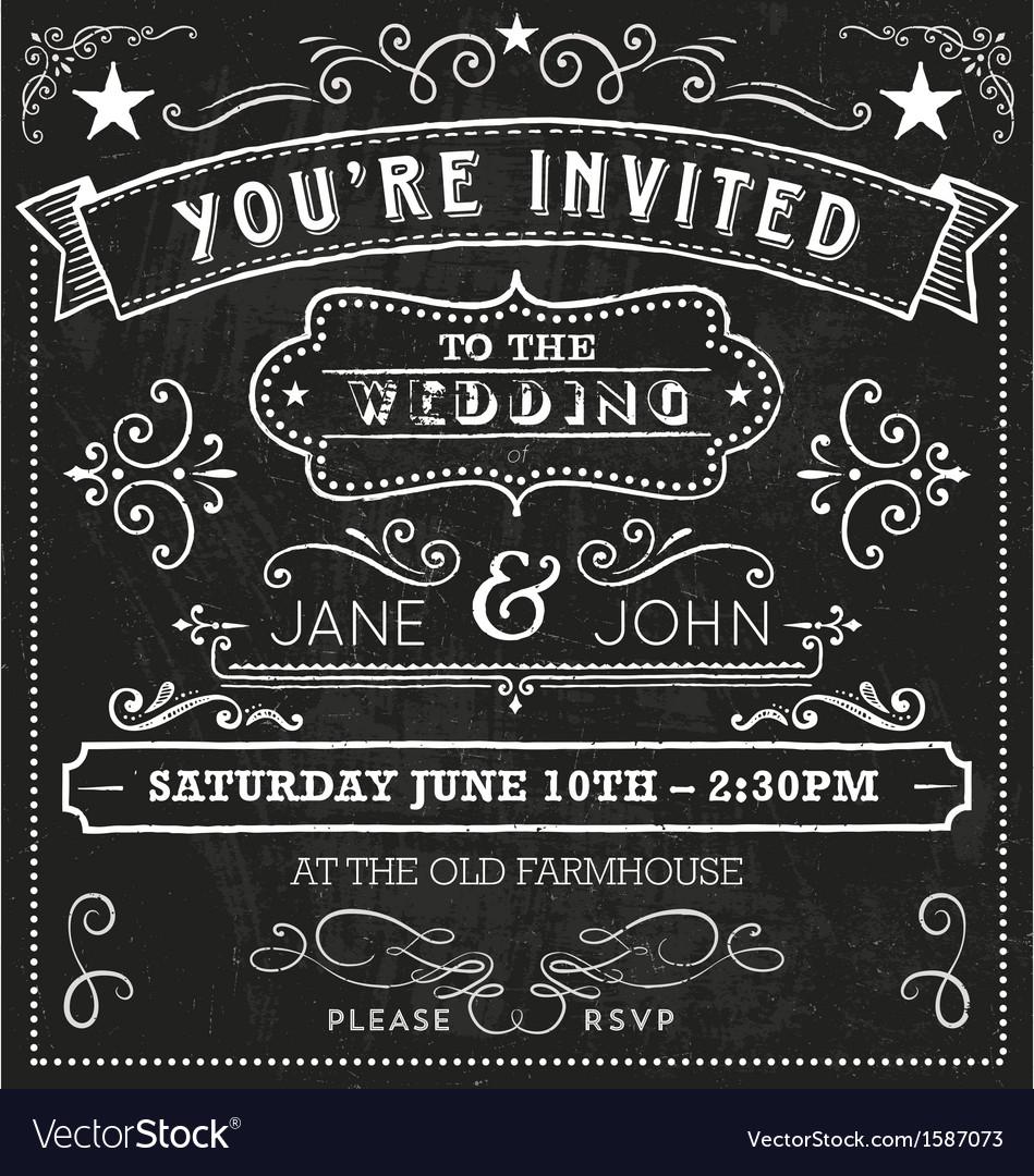 Wedding chalkboard invitation elements royalty free vector wedding chalkboard invitation elements vector image stopboris Image collections
