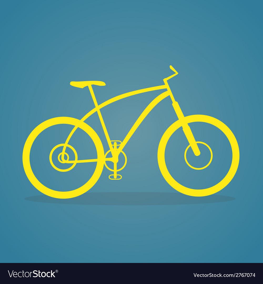Yellow Bike Icon vector image