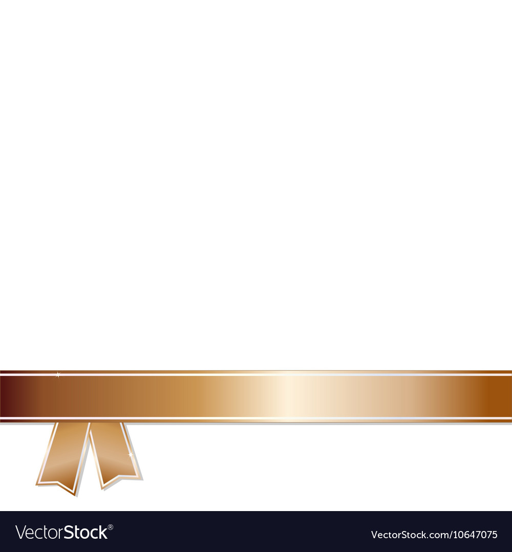 Bronze Ribbon on white background vector image