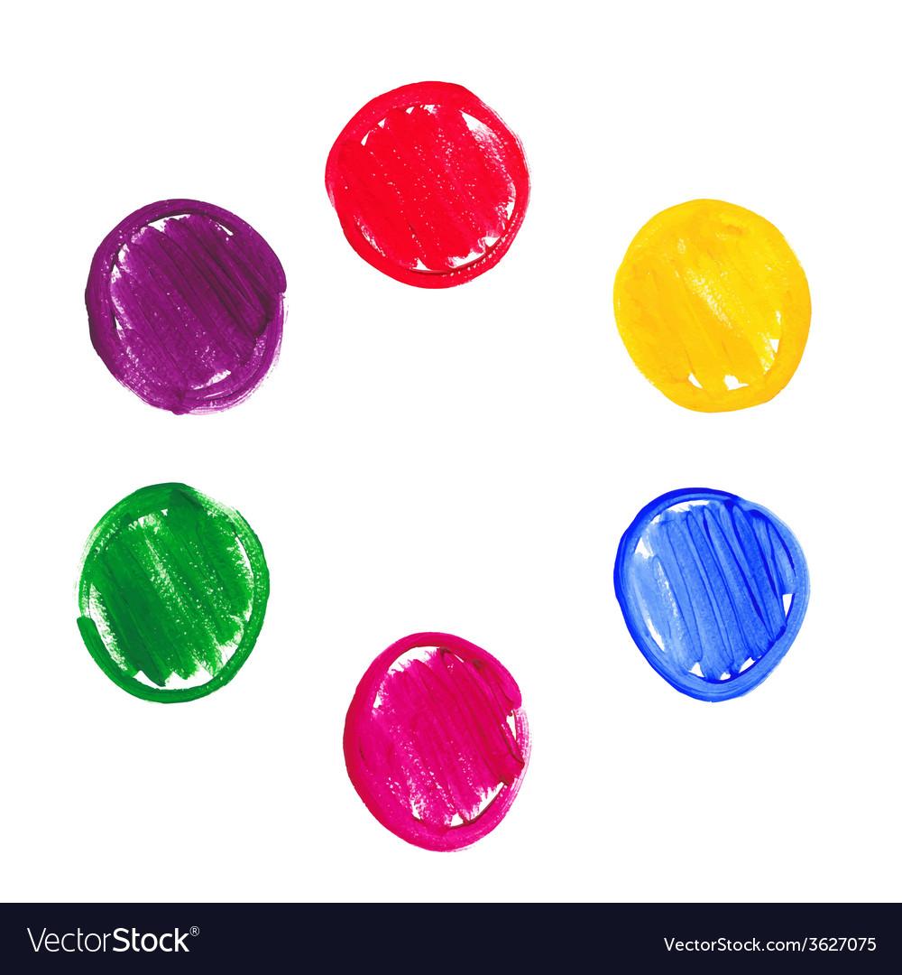 Color acrylic round spots vector image