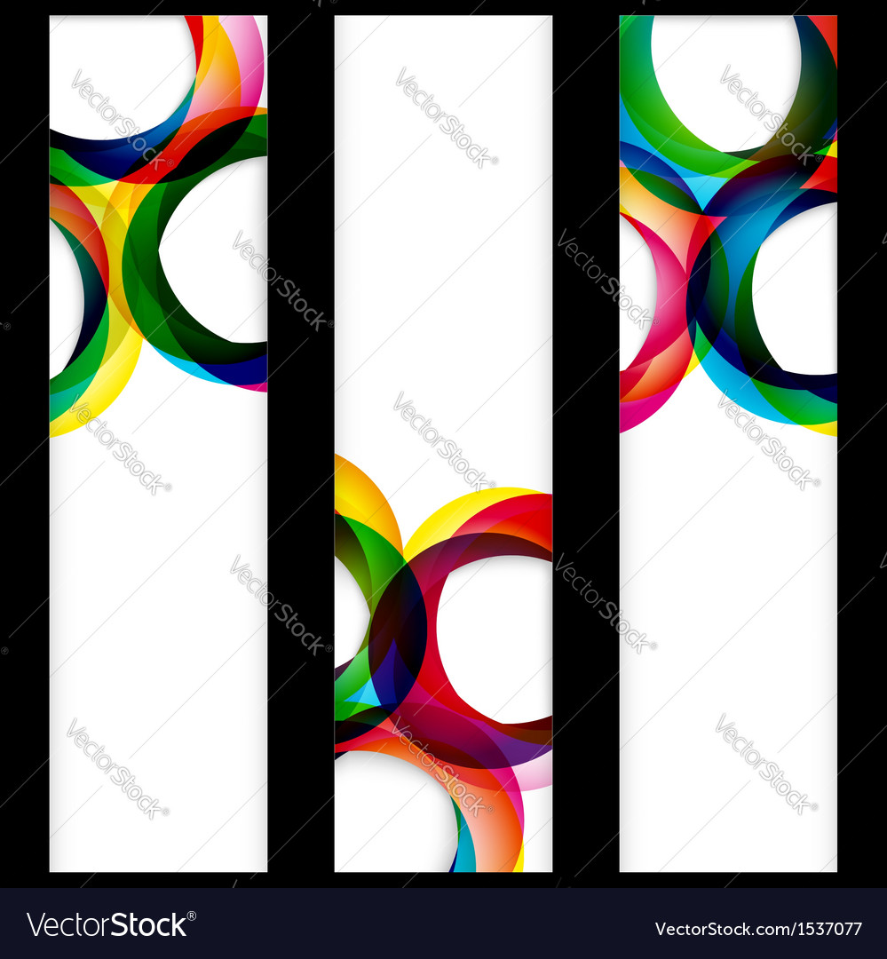 Abstract color elements banner vector image