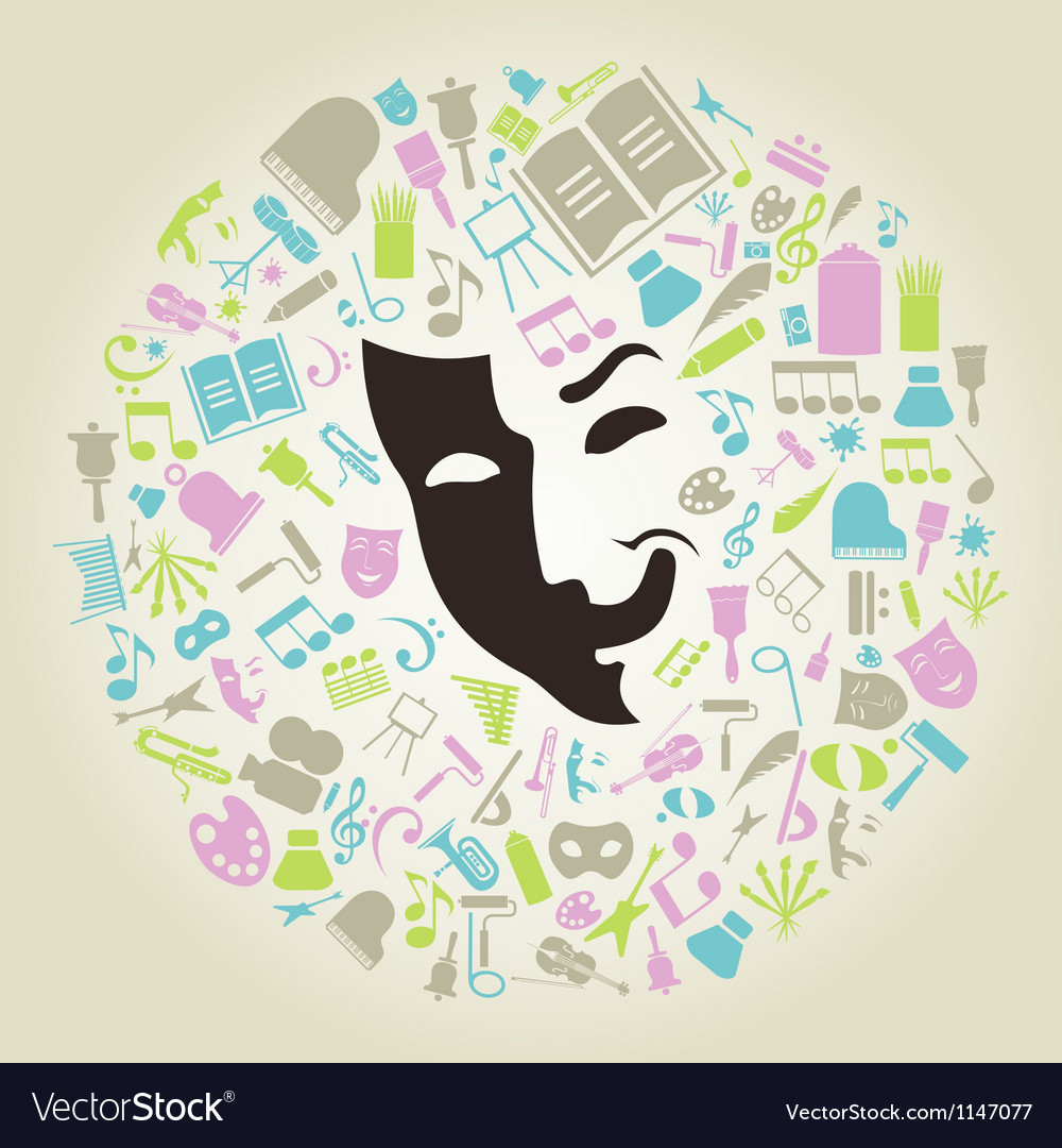 Art mask vector image
