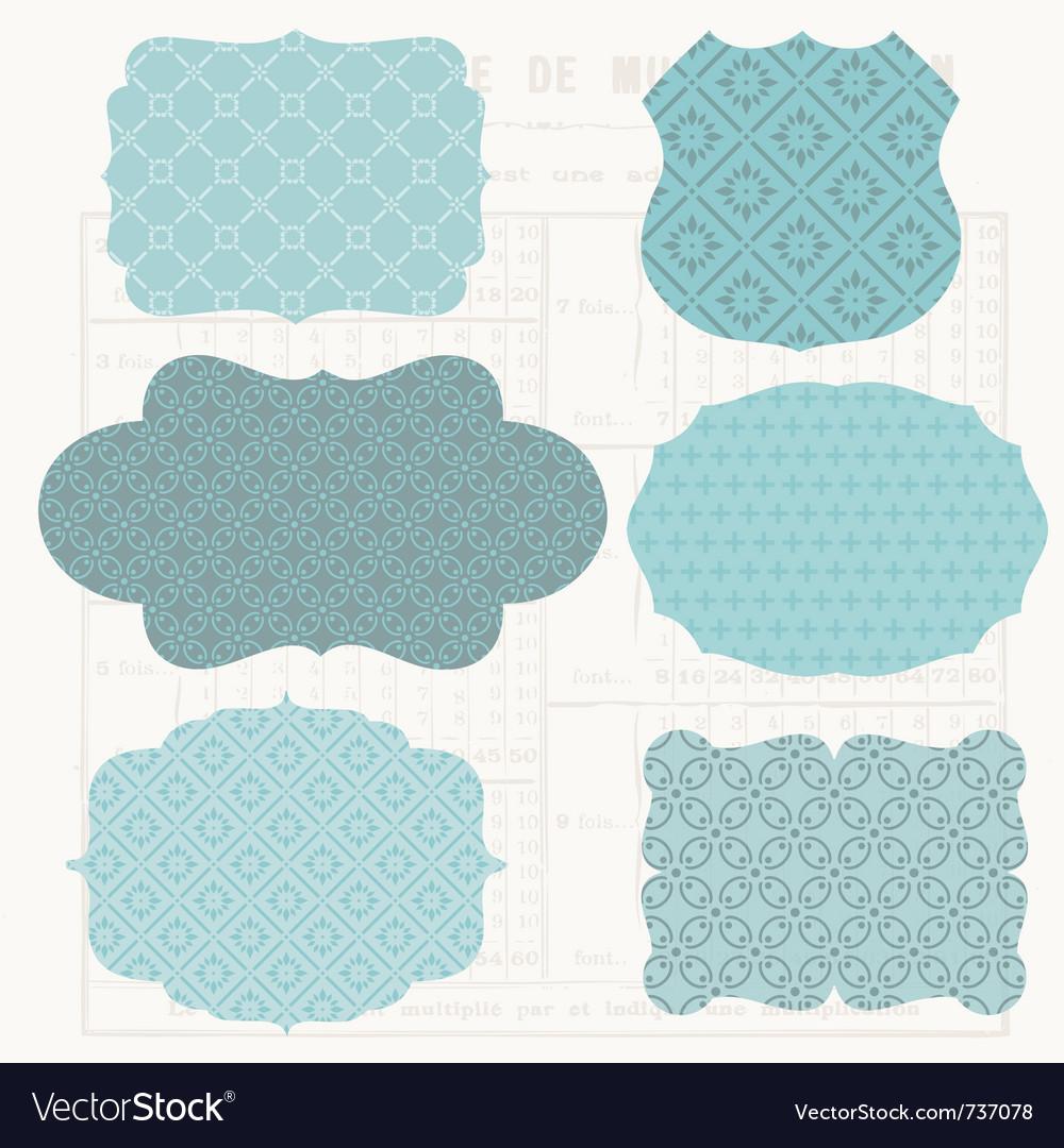 Vintage design elements for scrapbook - old tags a vector image