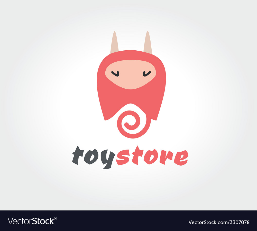 Abstract devil cute character logo icon concept vector image