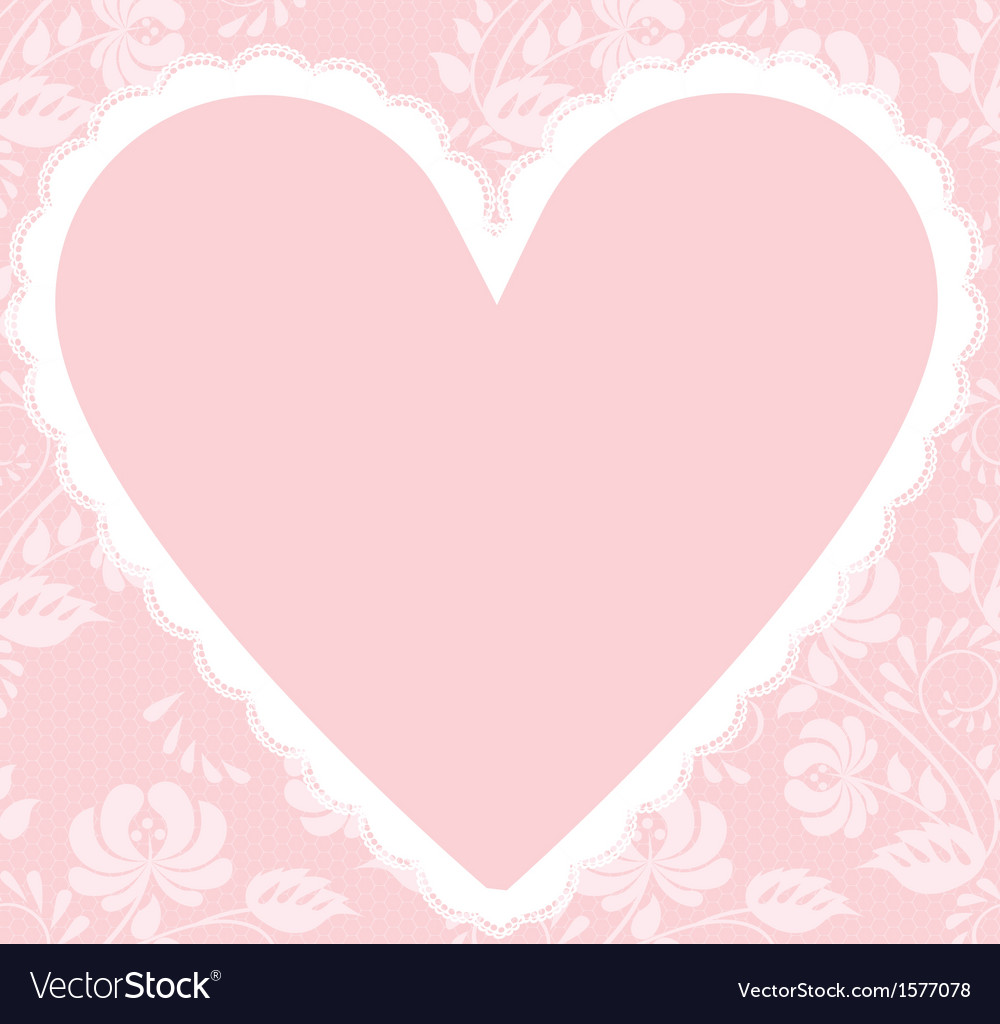 Lace rose pattern and heart vector image