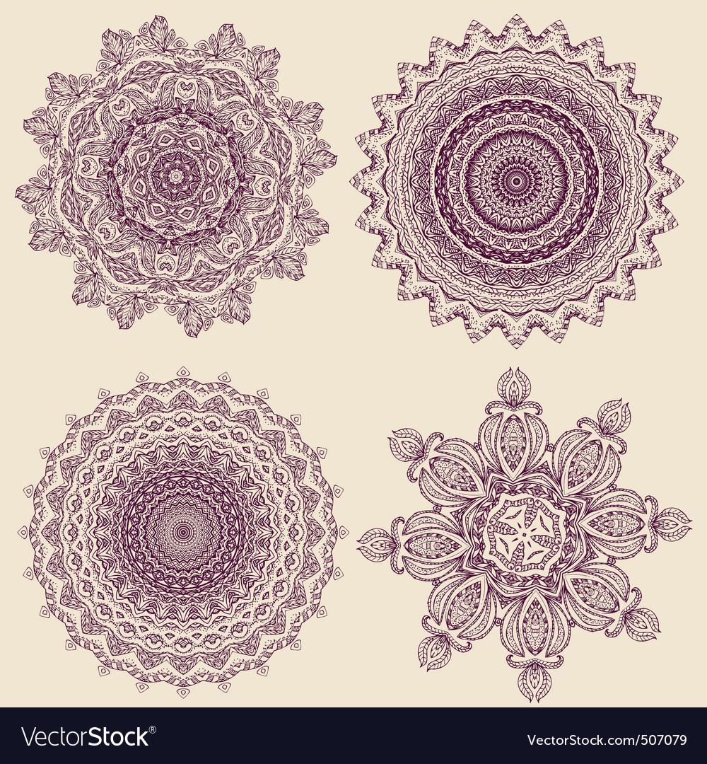 Lacy arabesque vector image