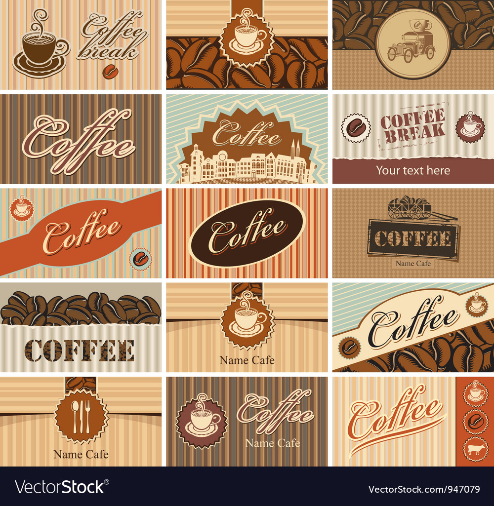 Set banner of tea and coffee vector image