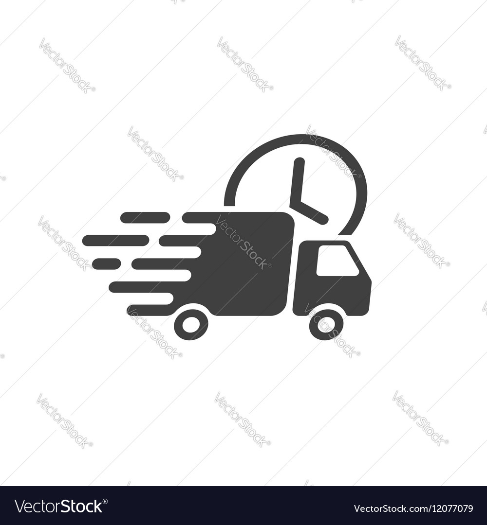 Delivery truck icon fast shipping cargo vector image