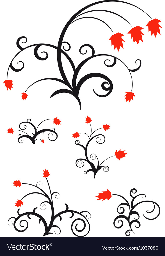 Decorative floral ornament for your design vector image