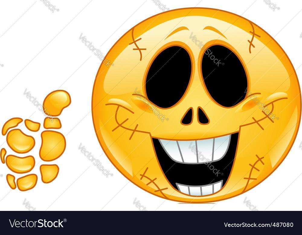 Skull emoticon vector image