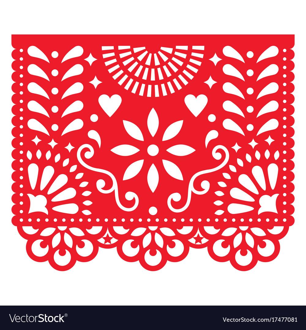 Mexican Paper Decorations Papel Picado Vector Image