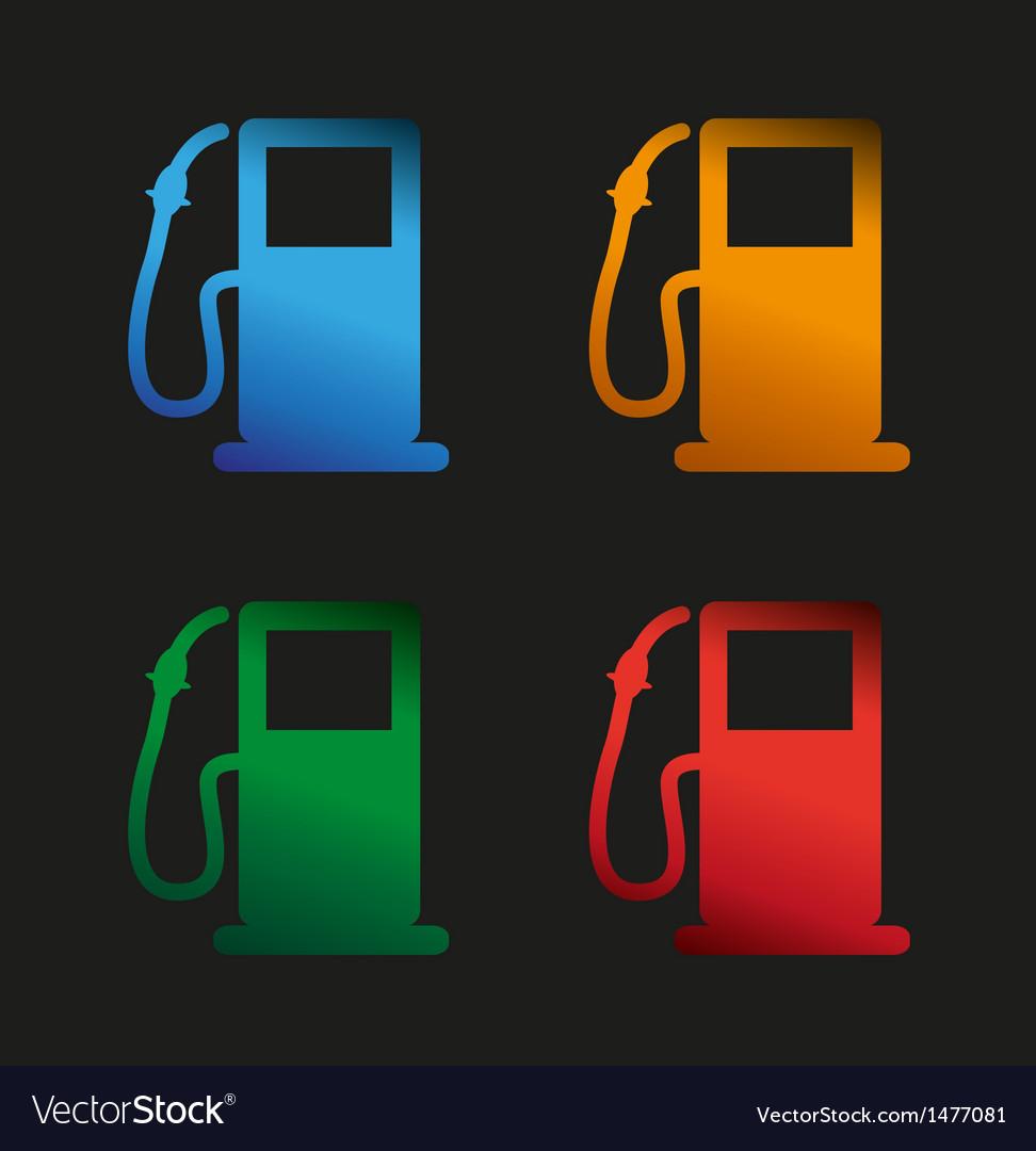 Petrol gauge vector image