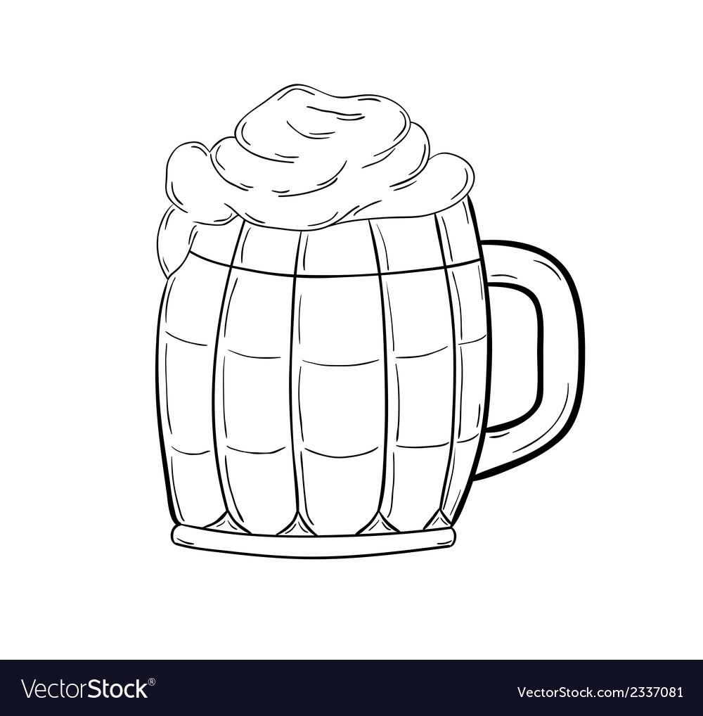 Sketch of the beer vector image