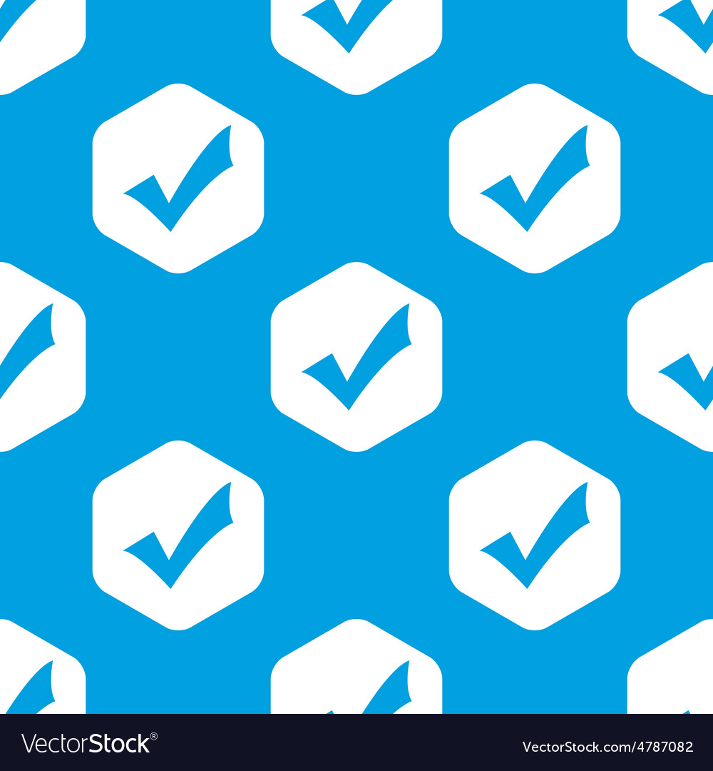 Tick mark hexagon pattern vector image