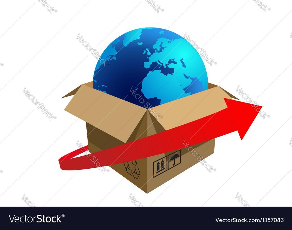 Cargo vector image