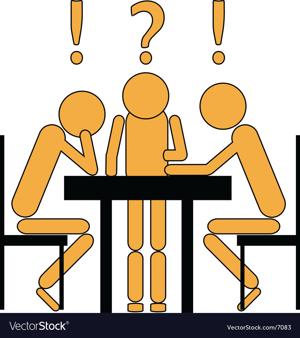 brainstorming session royalty free vector image