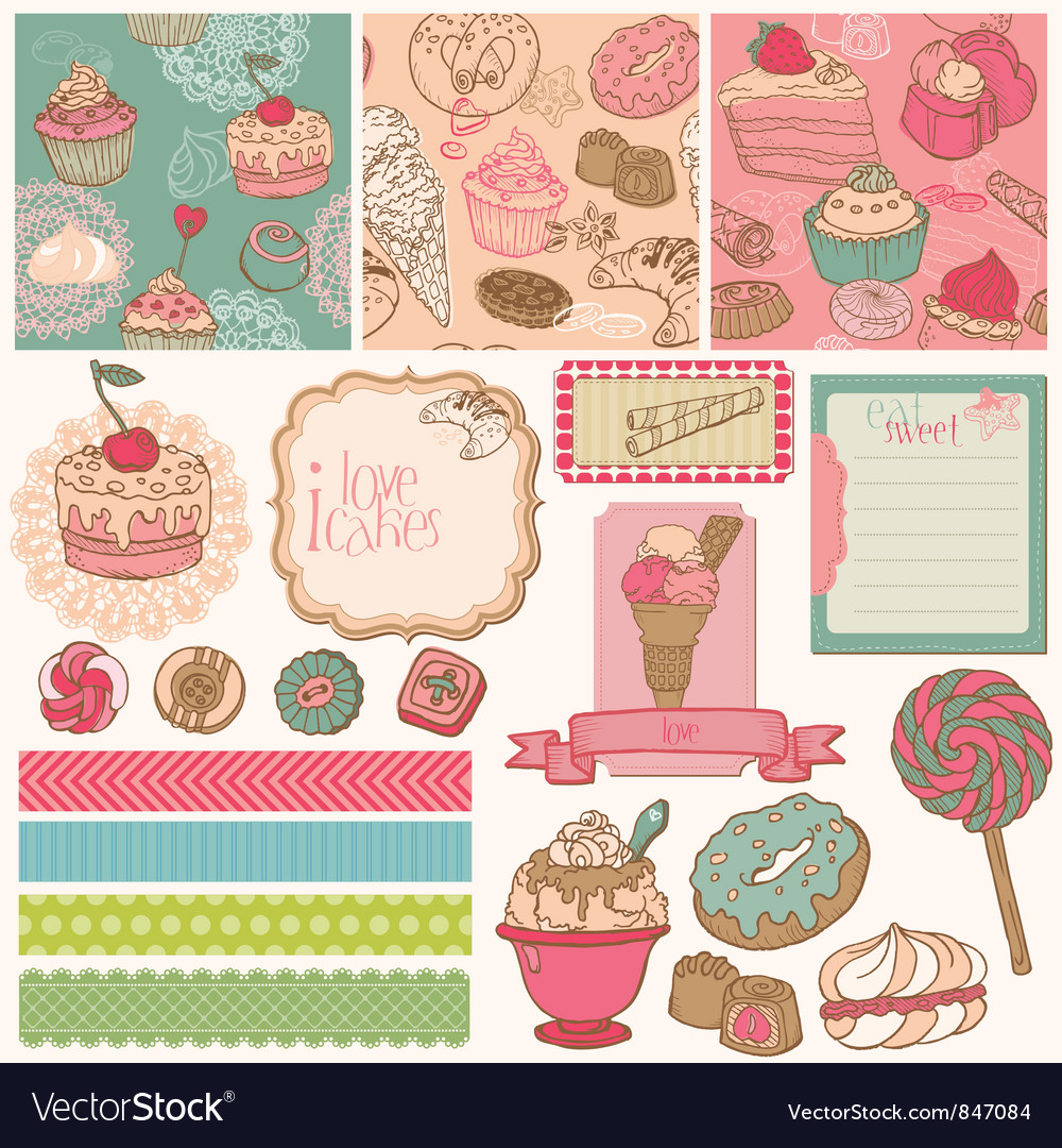 Scrapbook Design Elements vector image