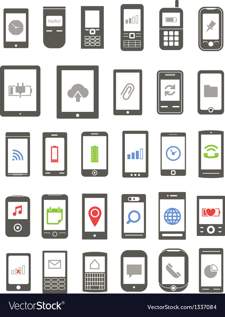 Abstract different mobile gadgets vector image