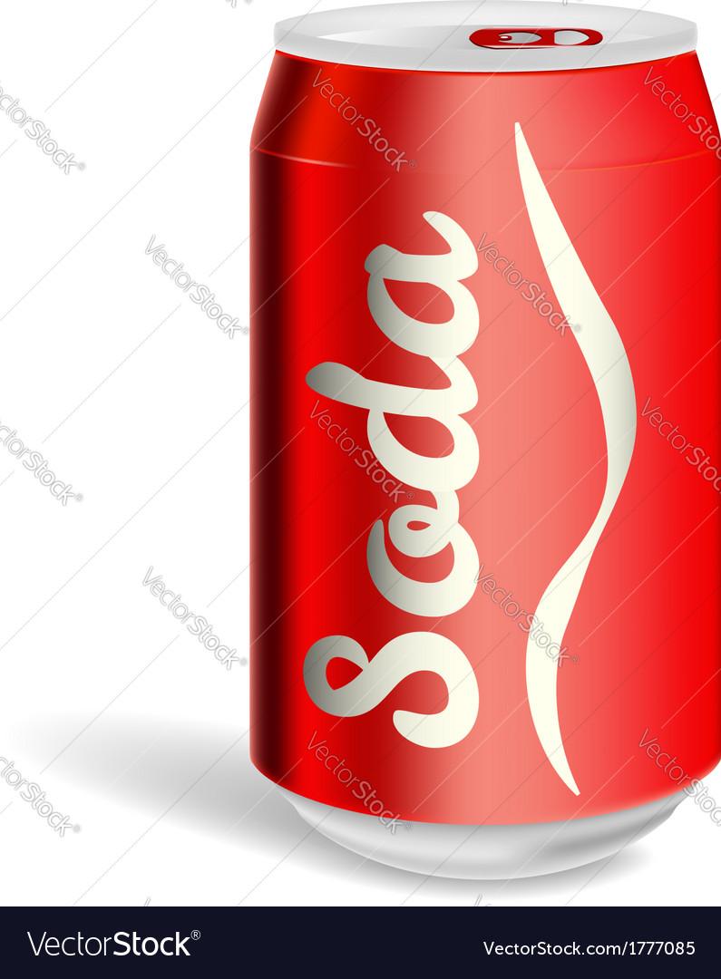 Aluminium soda can isolated vector image