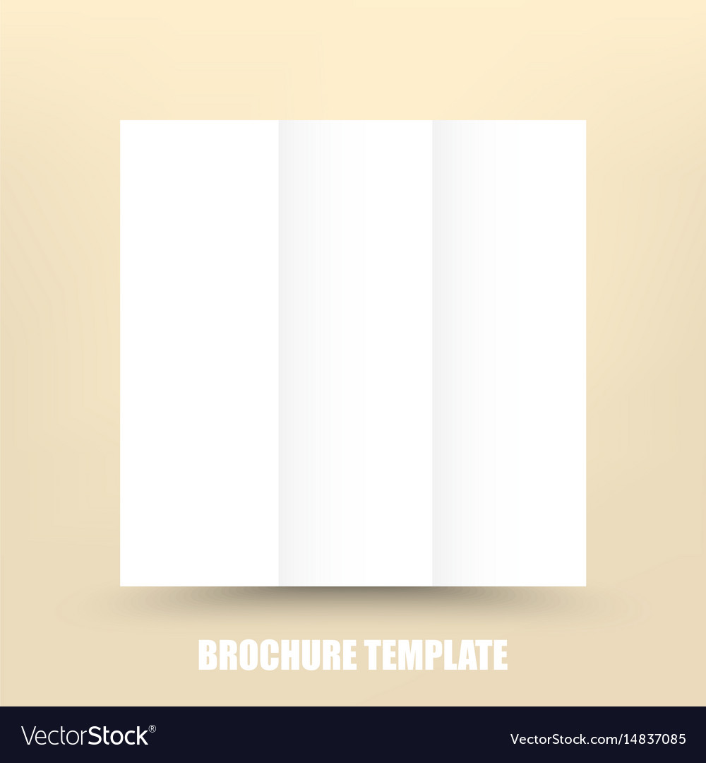 Blank Tri Fold Paper Brochure Design Template With Vector Image