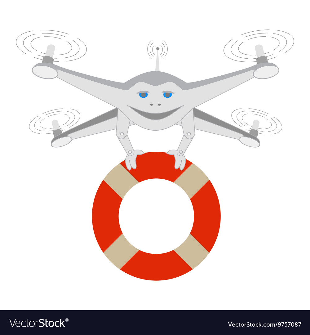 Drone and lifeline Insulated vector image