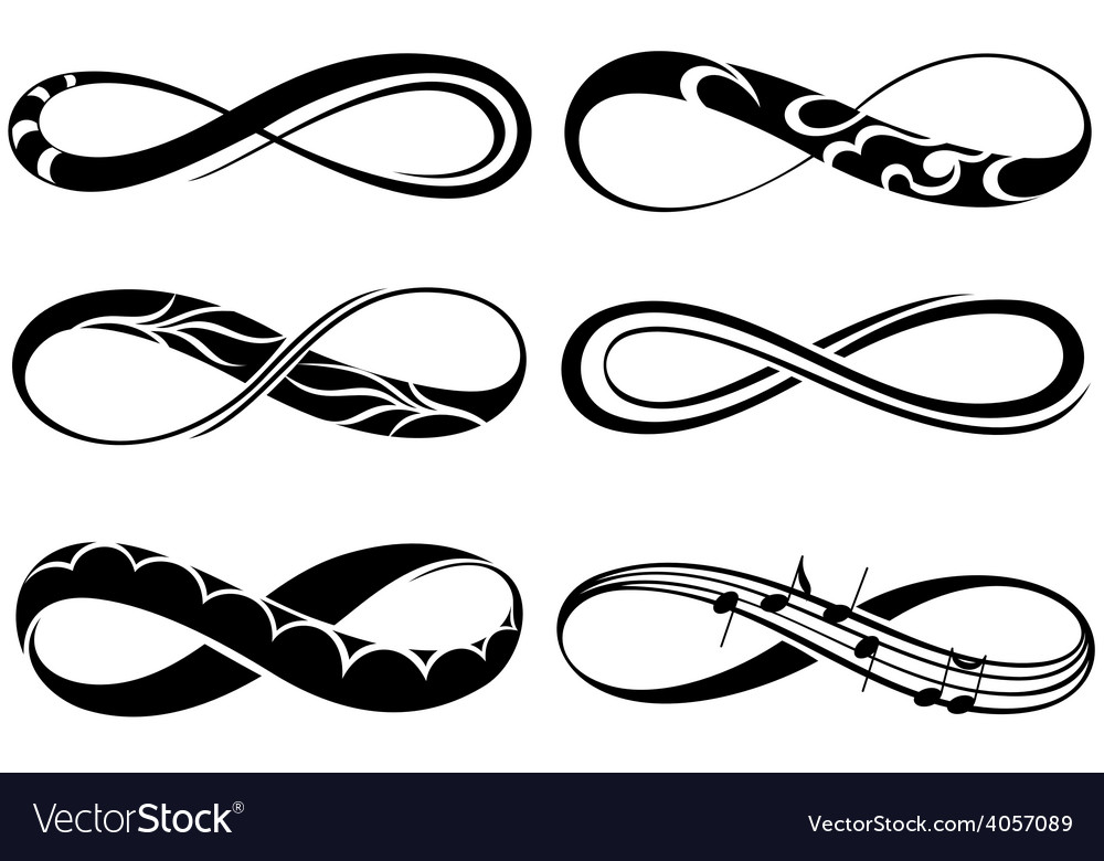 Infinity Love Forever Symbols Royalty Free Vector Image