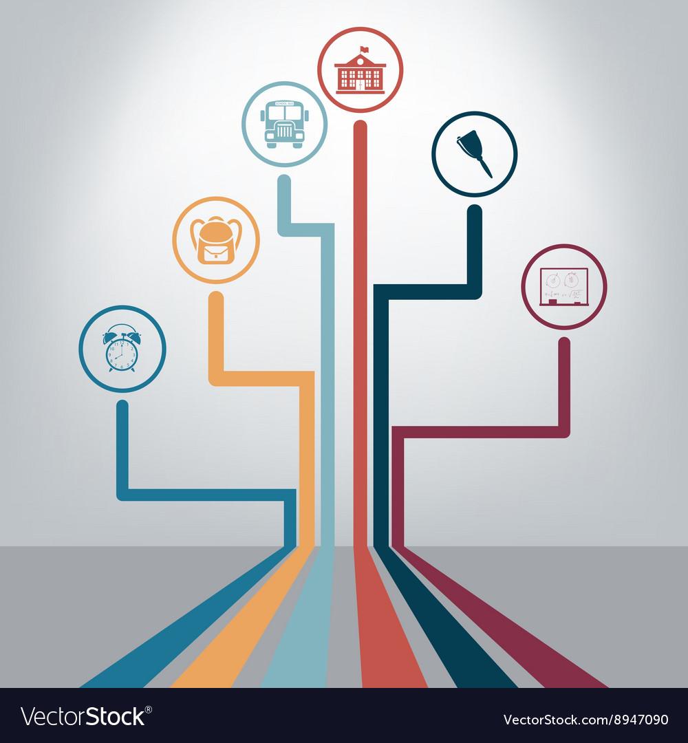 Creative school design vector image