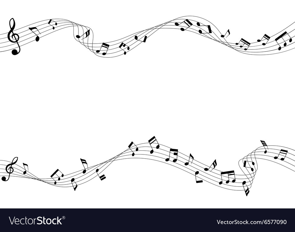 two row of musical notes and chords royalty free vector