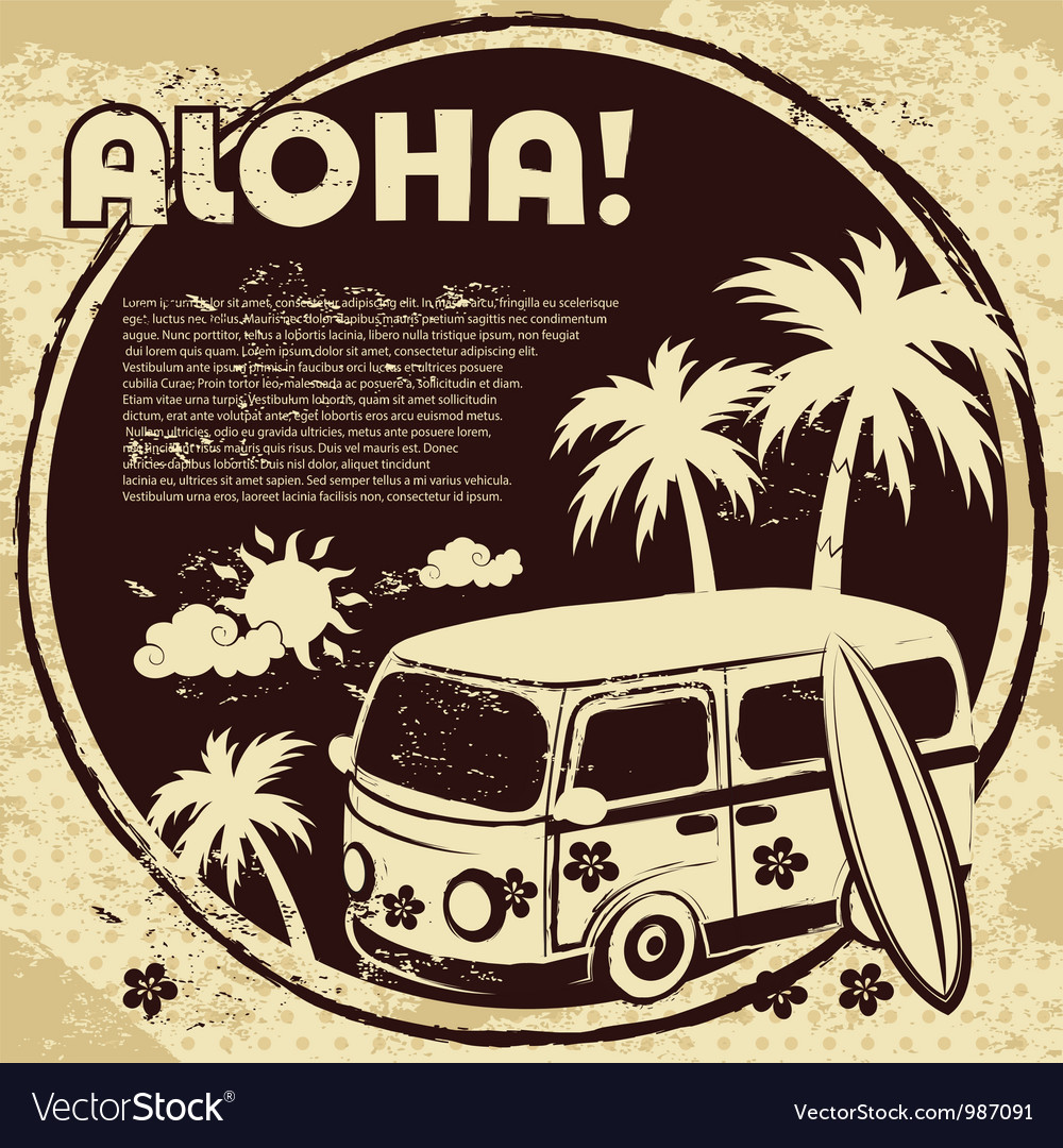 Retro bus vector image