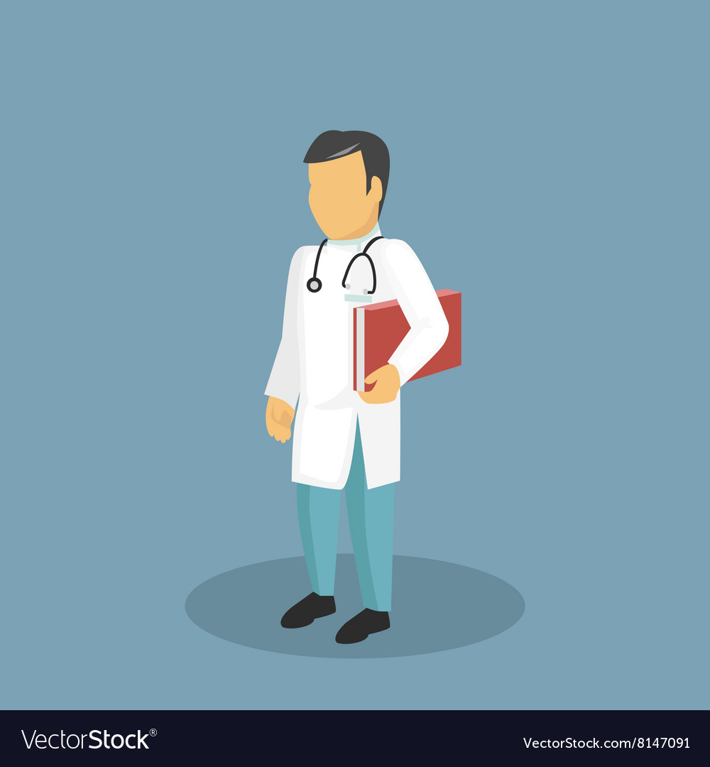 Profession Icon Doctor Design Flat Style vector image