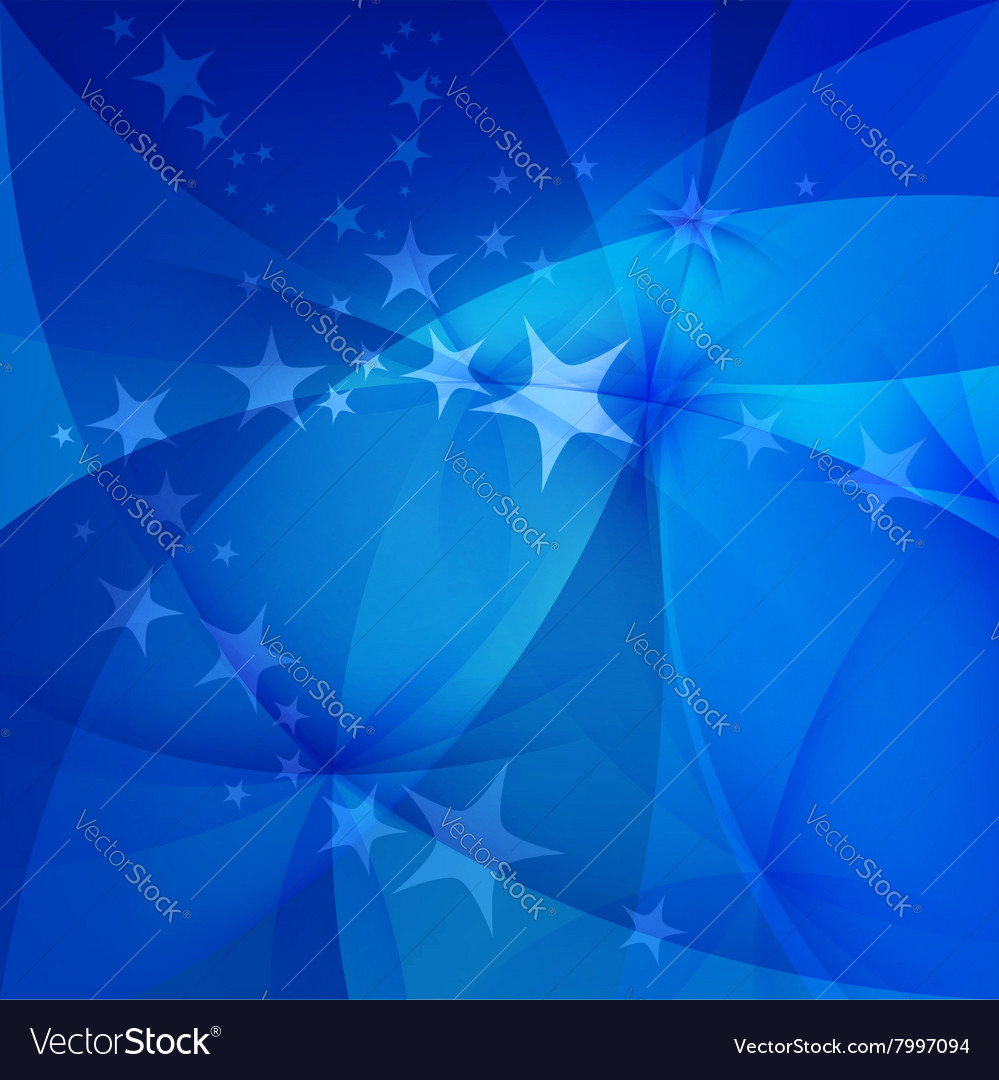 Abstract blue background with stars vector image